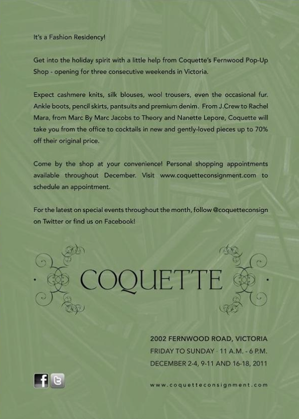 COQUETTE Flyer