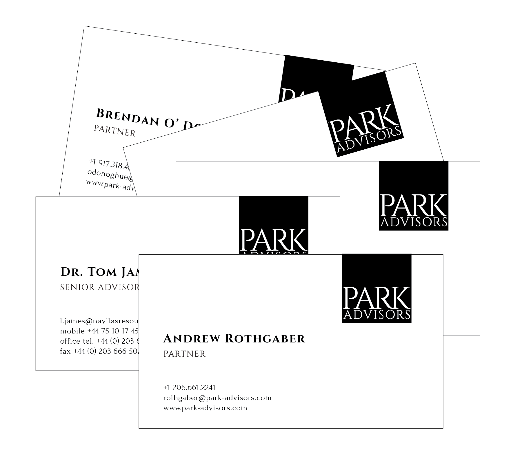 PARK Team Business Cards