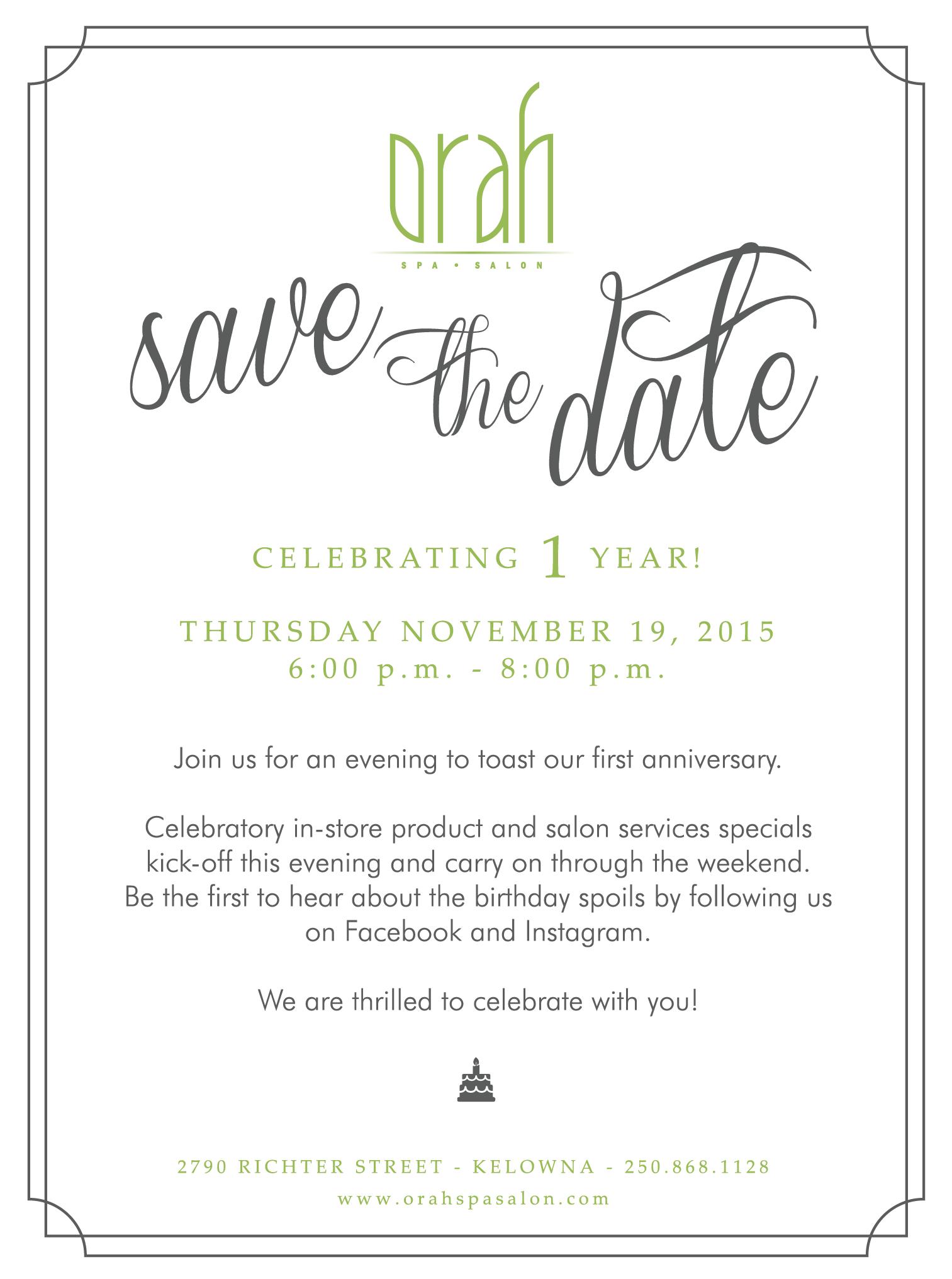 Anniversary Party Invite