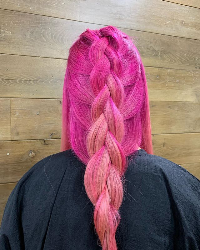 The longest color application ever but totally worth it.  Bleach and tone with GOLDWELL Elumen.  #goldwell #elumen #pinkhair #culvercity #bleach #thecompoundsalon