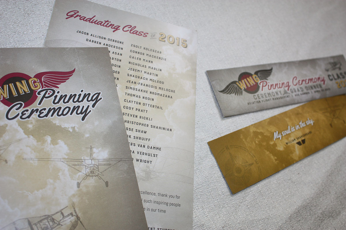 Wing Pinning Program & Tickets/Bookmarks