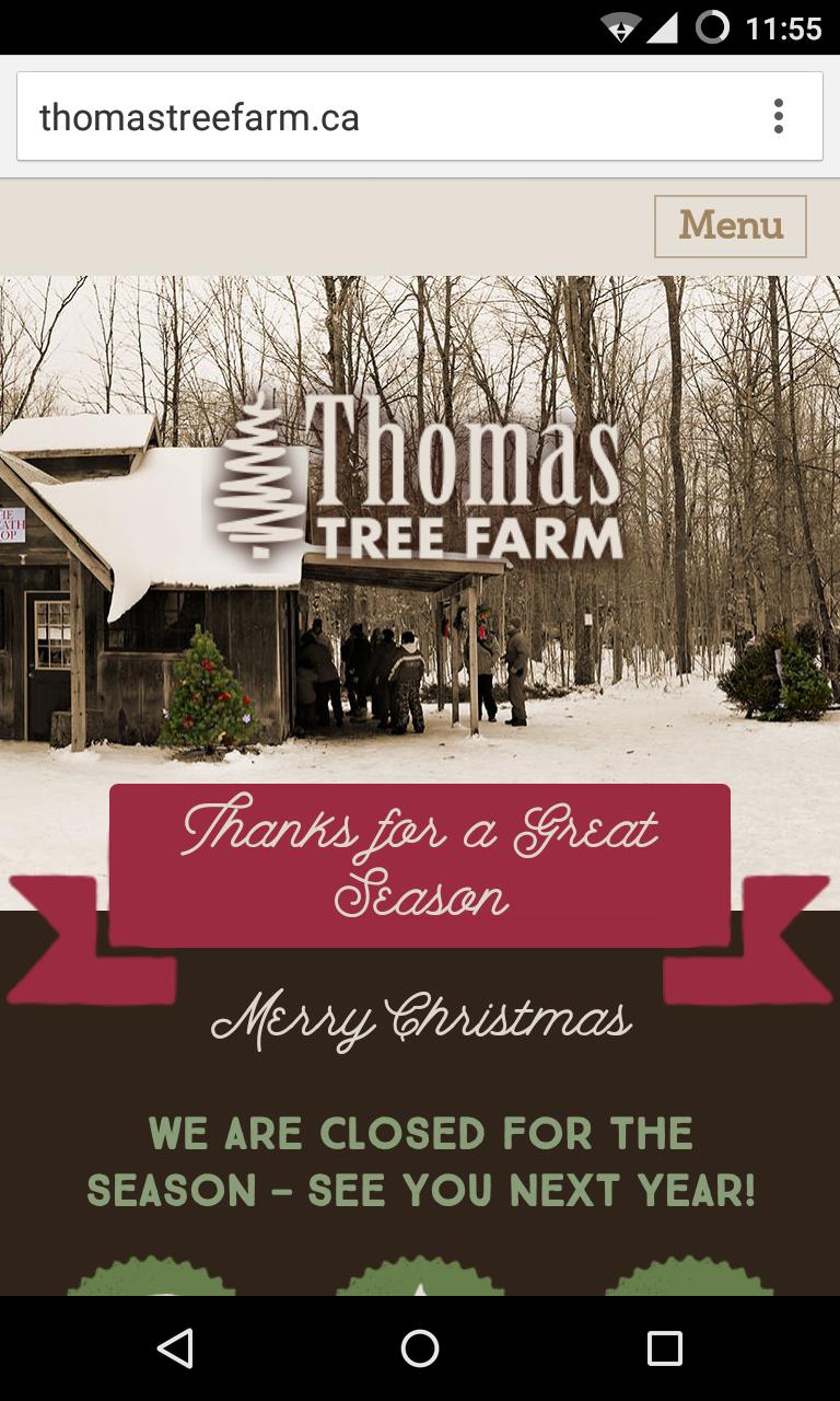 Christmas Tree Farm Mobile View