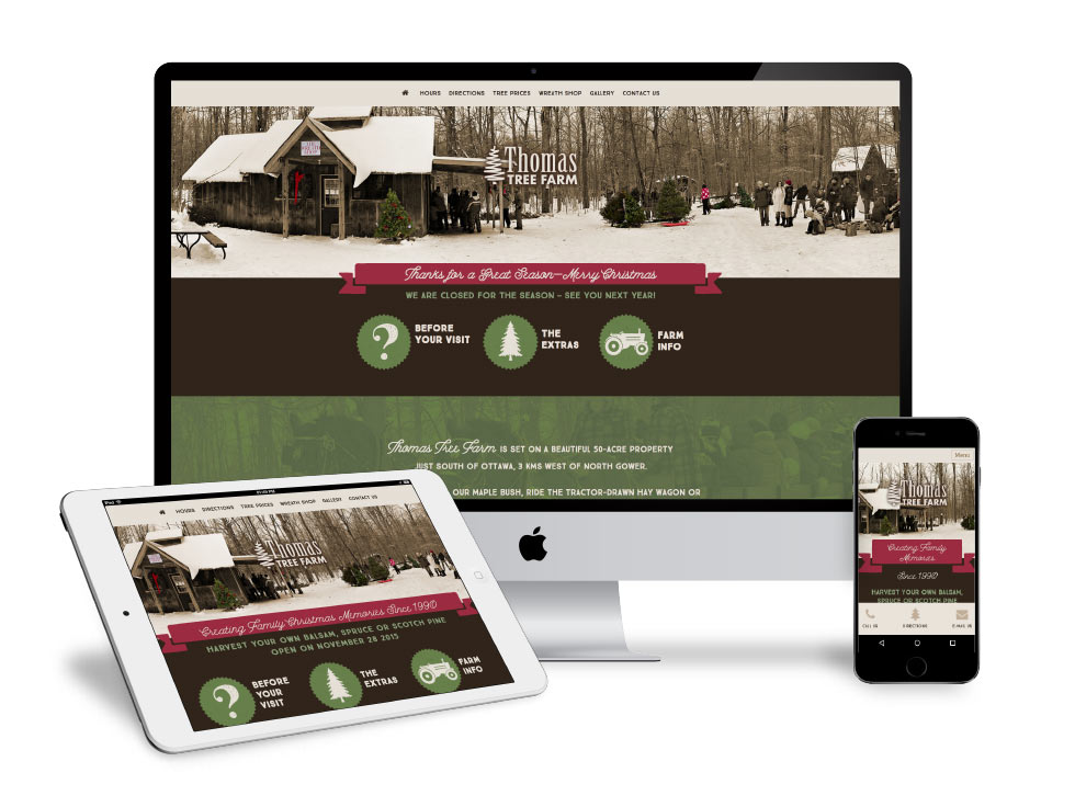 Christmas Tree Farm Website Design