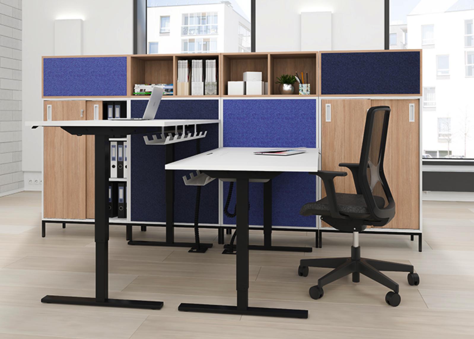 Easy-työpöydät, Wind-työtuoli ja Choice-säilytyskaluste