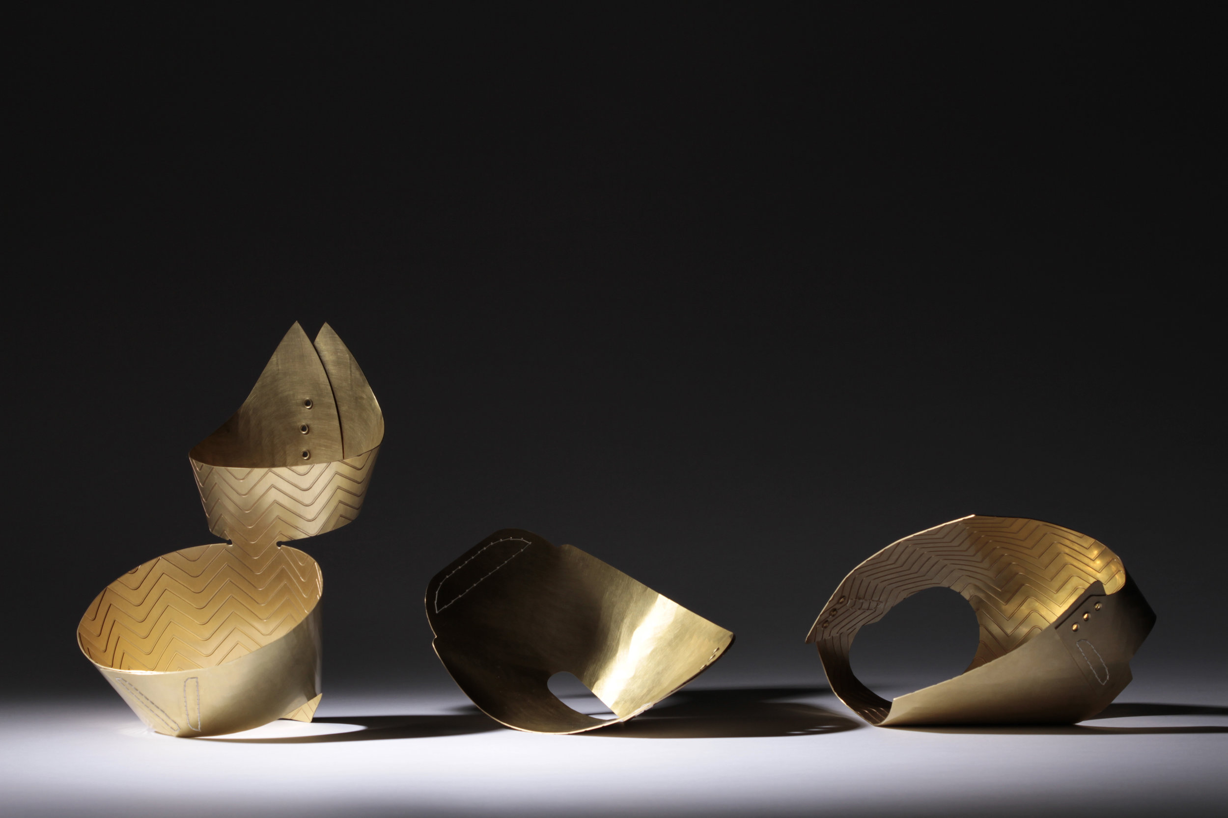 The Classic Collection. Yes, you guessed it, each piece was created from a single continuous sheet of brass.