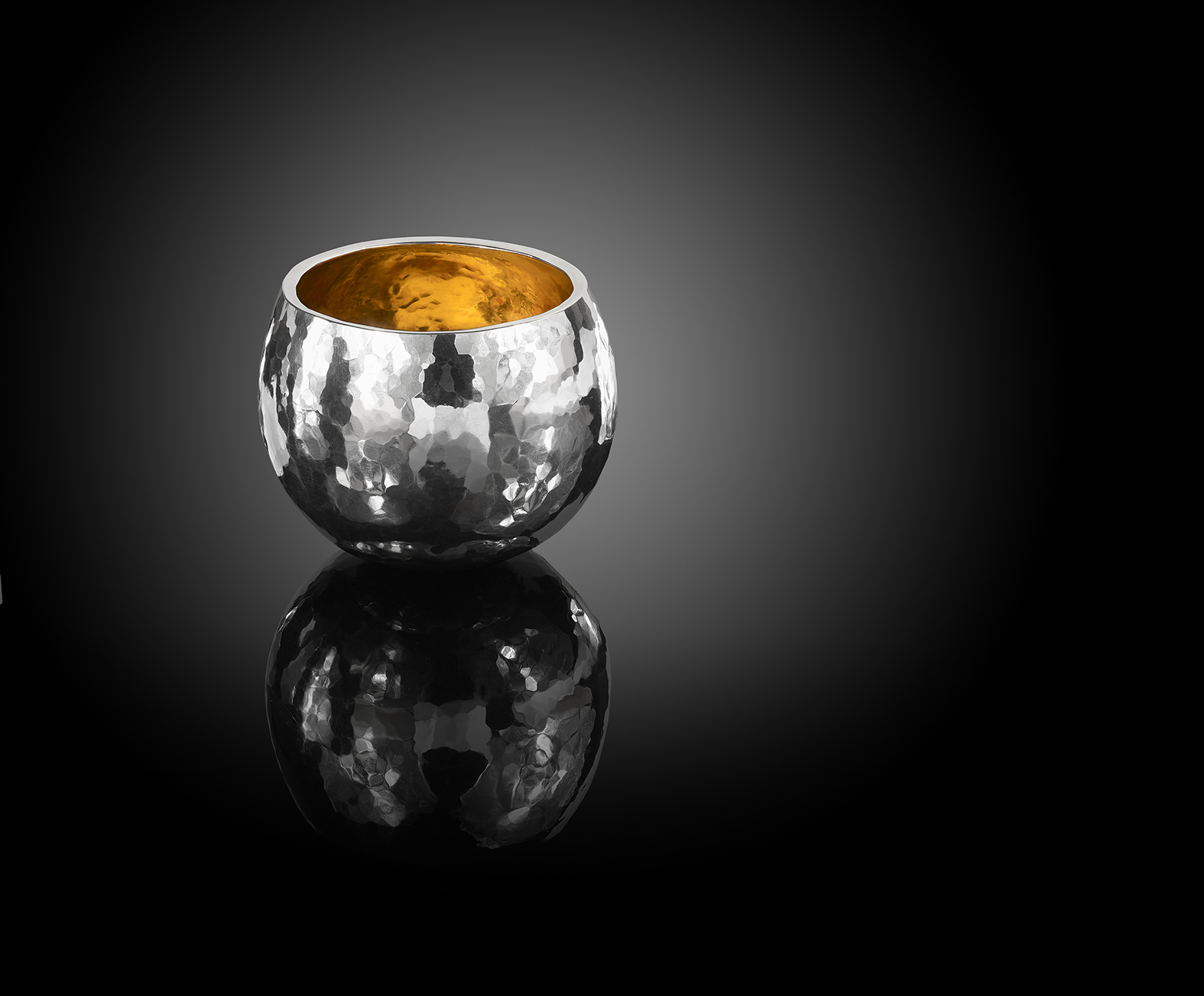 Fine Silver Rocky Whisky Tumbler