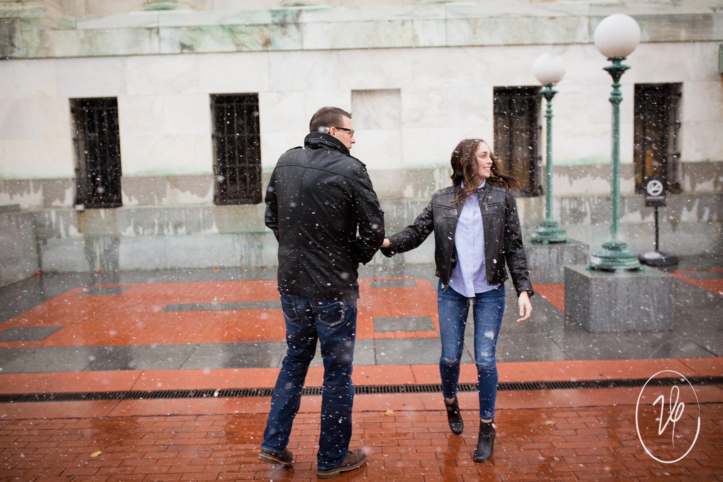 Viridian Ivy Images | Downtown Toledo Engagement Session | Toledo Engagement Photographer