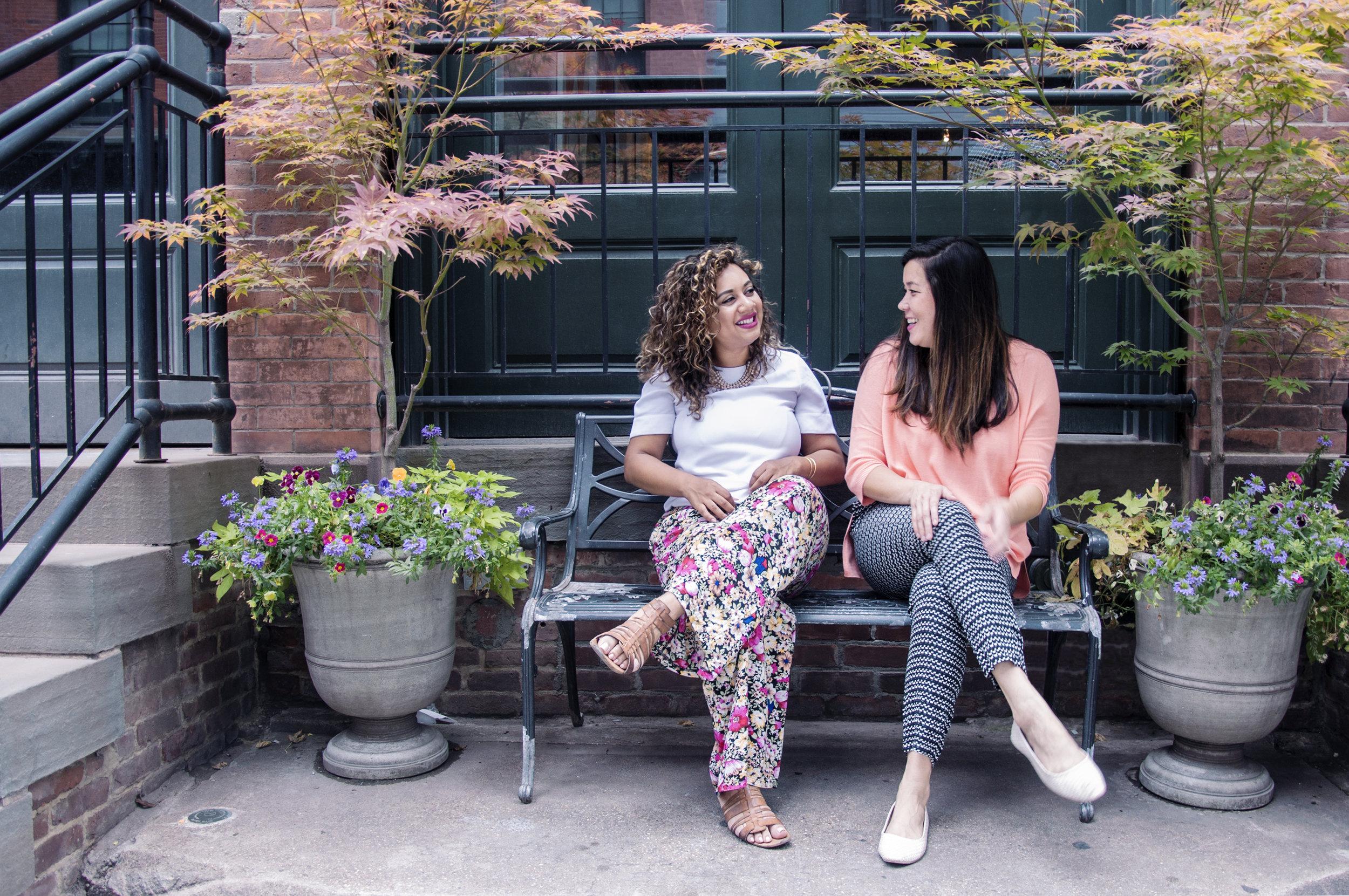 The Team at Shine: Marah Lidey (left),Naomi Hirabayashi (right).
