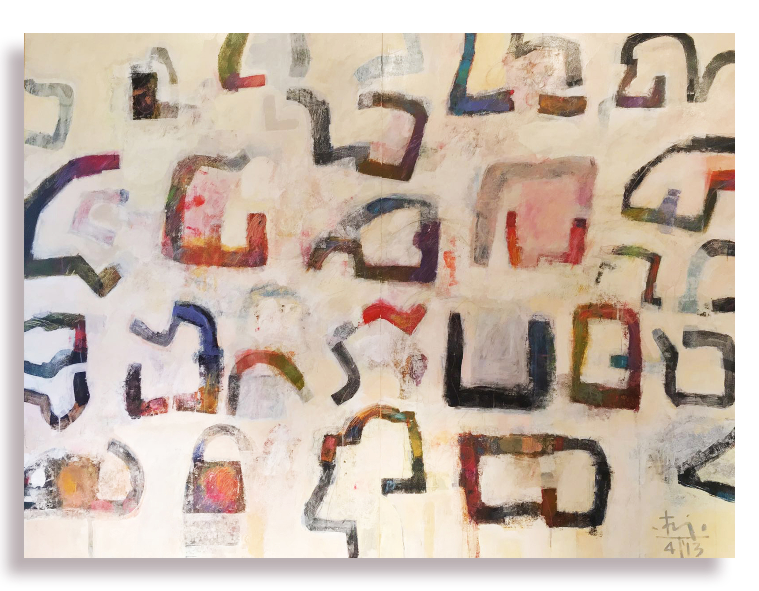 Homage to Chillida, 2013, Mixed media on wood panel, 259cm x 167cm.jpg