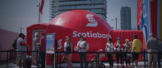 SCOTIABANK - 360 Virtual Arena for The Scotiabank World Cup of Hockey Fan Village