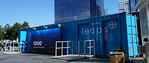 LEAPS BY BAYER - Highly immersive experience inside 40' shipping container