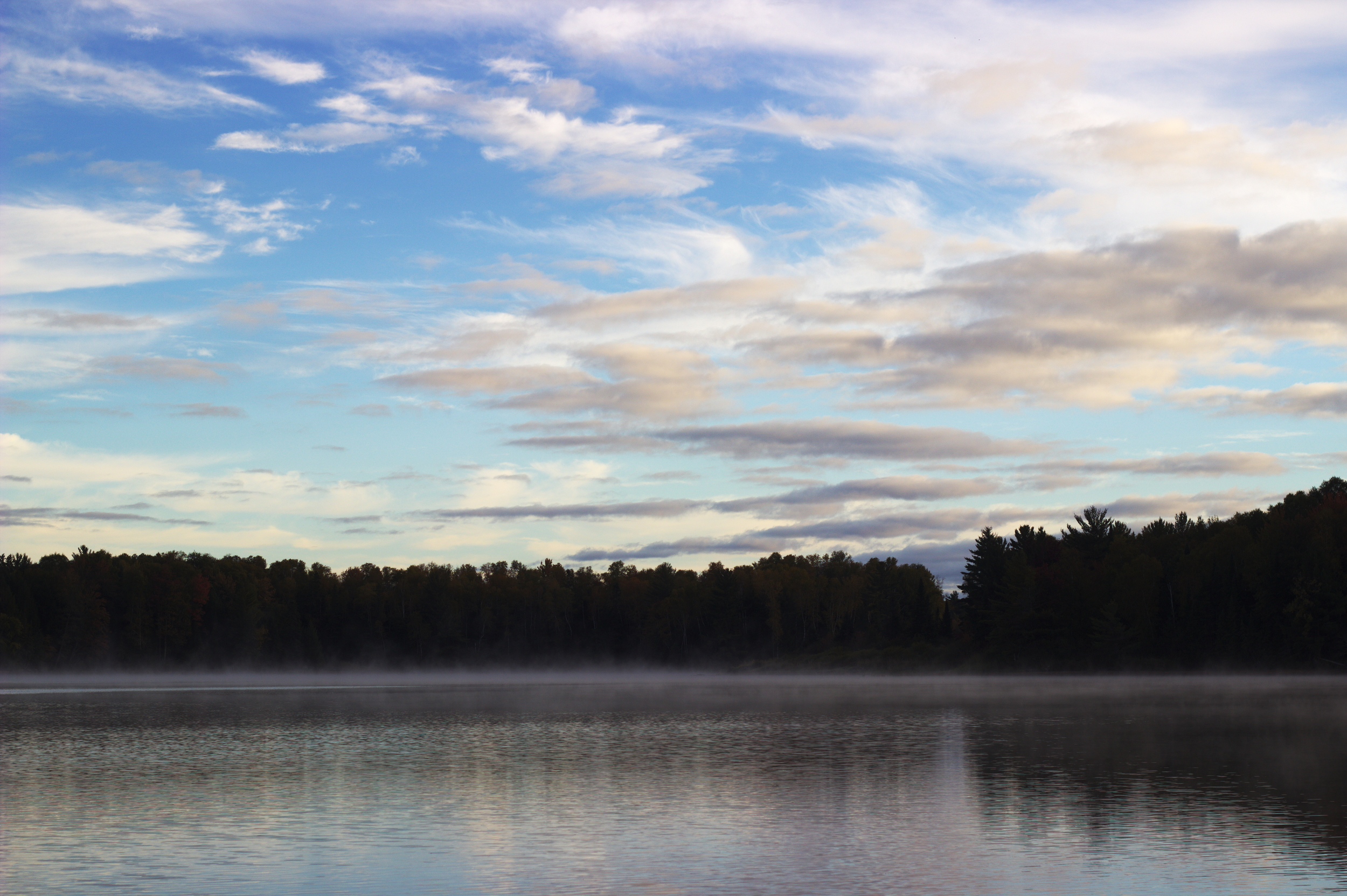 The final morning on the flowage was pretty much perfect.