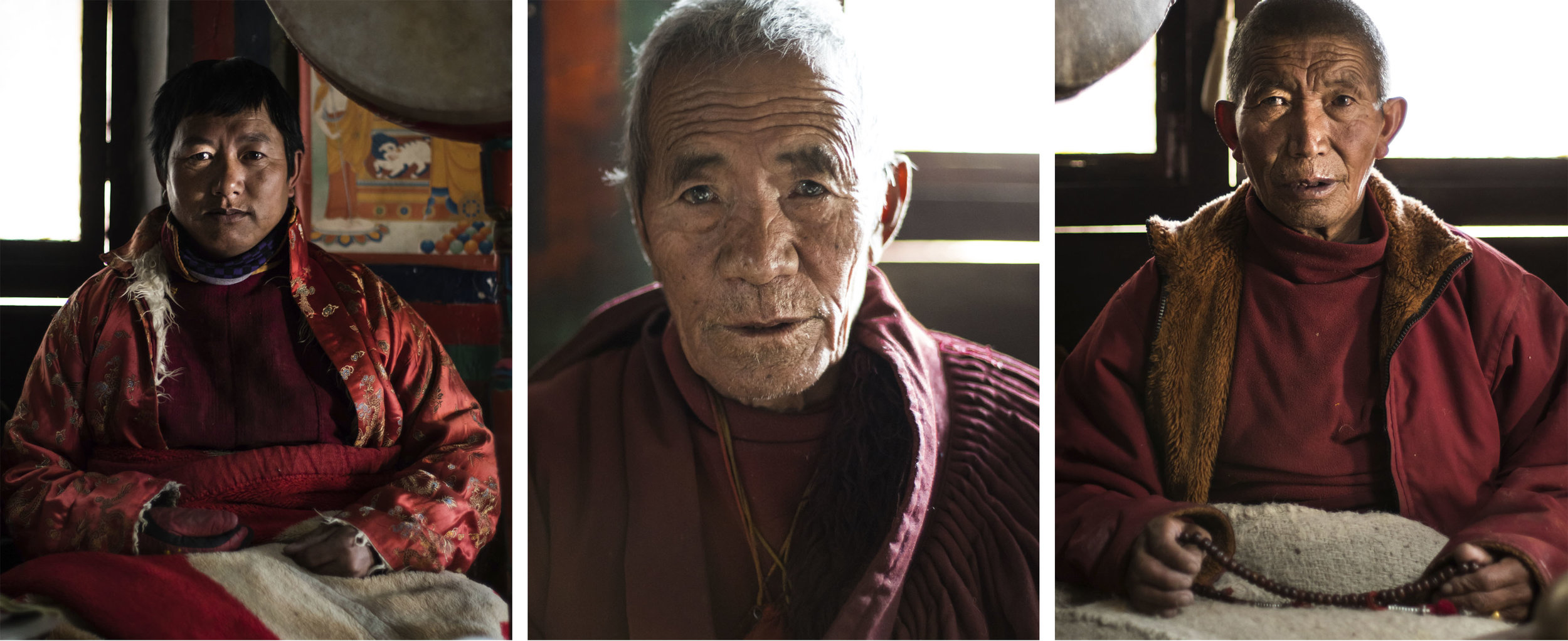 12 Mustang Nyphu Monks Portraits