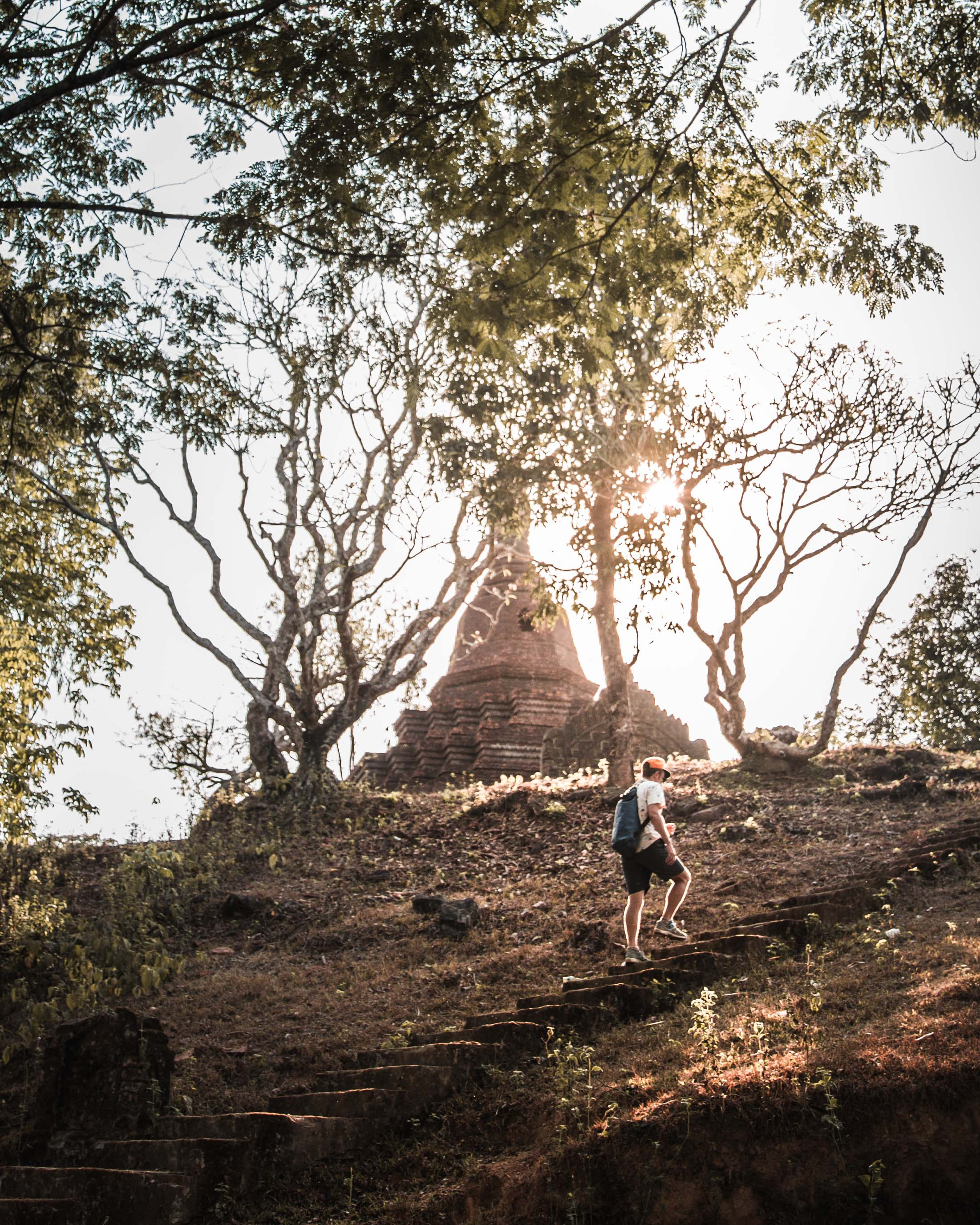 Myanmar temples of Mrauk U sunset travel photography 1