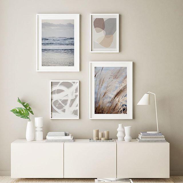 """Why not combining nature photography with abstract graphics? """"The Sea"""", """"Graphic 192"""", """"Abstract Brush Strokes 6"""" and """"Grass 5"""" ... all available at @juniqeartshop and @society6 #abstractart #abstract #geometric #modernart #artgallery #abstractpainting #wallgallery #interior #interiorinspo #abstractexpressionism #juniqe #society6 #naturephotography #interior123 #interiorinspiration #interiør #interior4all #finahem #interior_and_living #skandinaviskehjem #livingroom #wohnzimmer #dekoideen #art #kunst #artprint #interior4you1 #mareikeböhmer #mareikebohmer"""