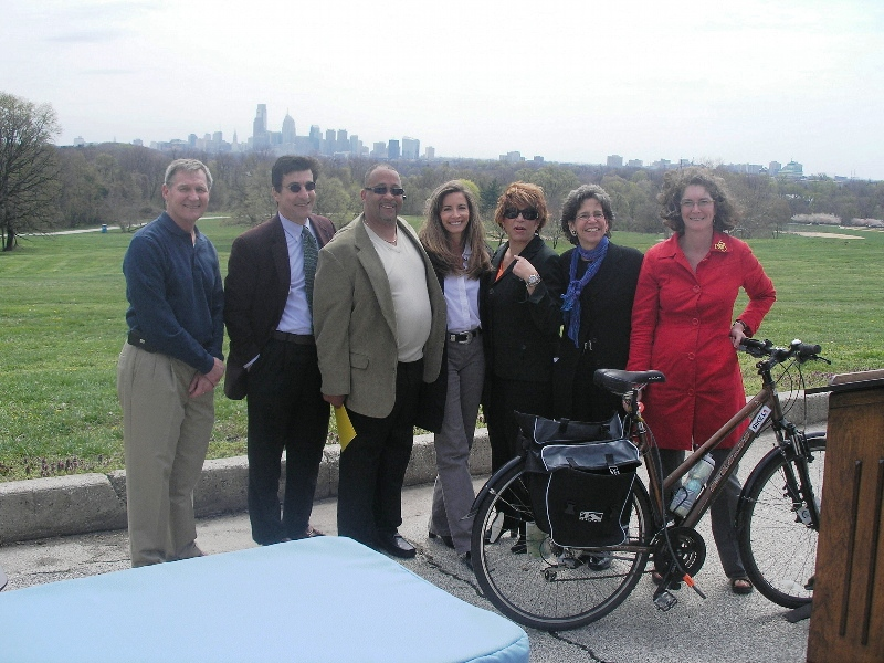 Commission on Parks and Recreation Commissioners (L - R) Pete Hoskins, Michael DiBerardinis, Jeff Hackett, Debra Wolf Goldstein, Barbara Capozzi, Nancy Goldenberg, and Sarah Clark Stuart