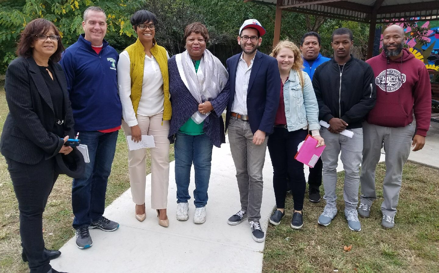 The Baker Playground Advisory Council meets with State Representative Morgan Cephas and Parks & Rec officials to advocate for renewed investment into their center.