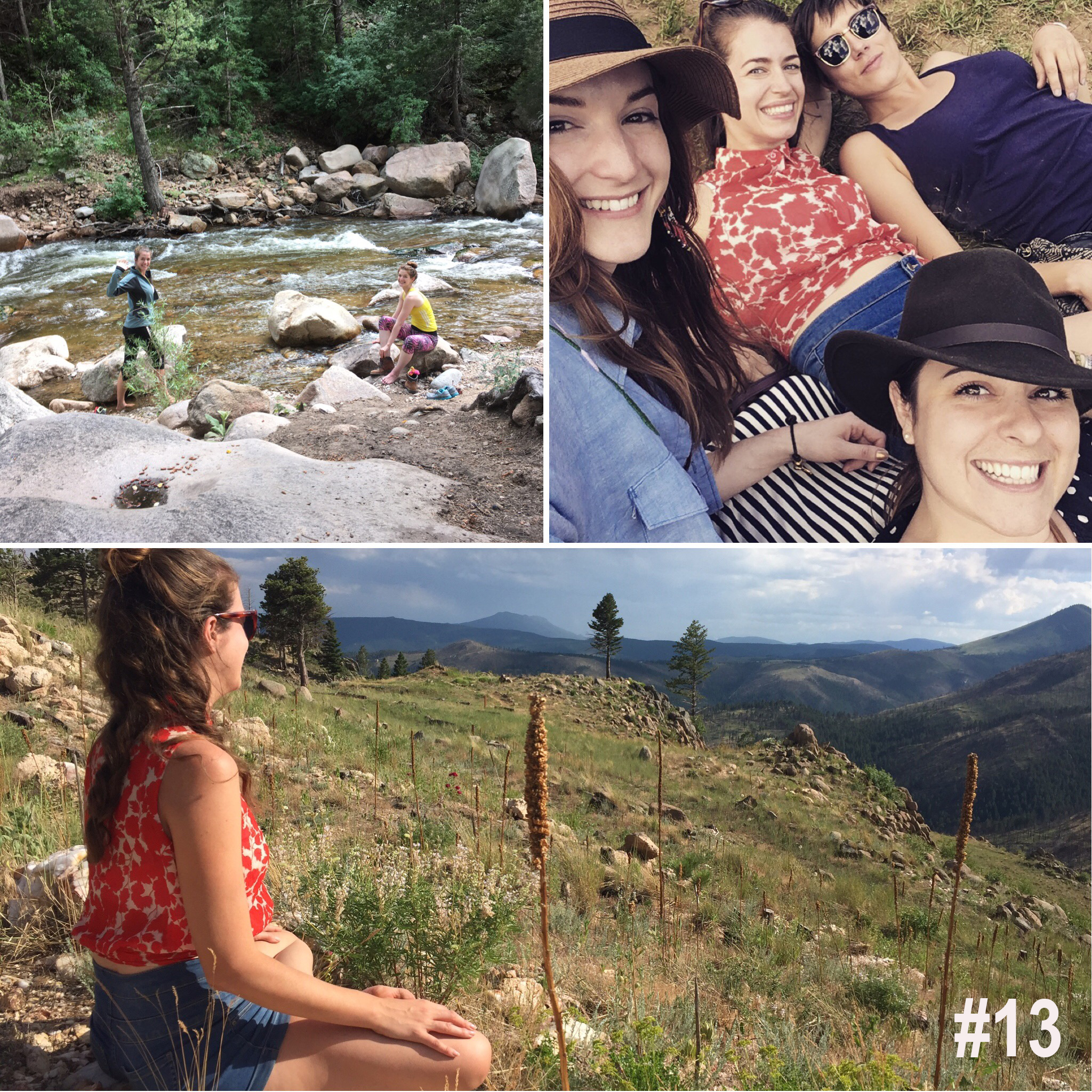 #13. Then we met my college friends in the mountains near  Boulder, Colorado  for my 30th birthday. I can't believe this is where I live!