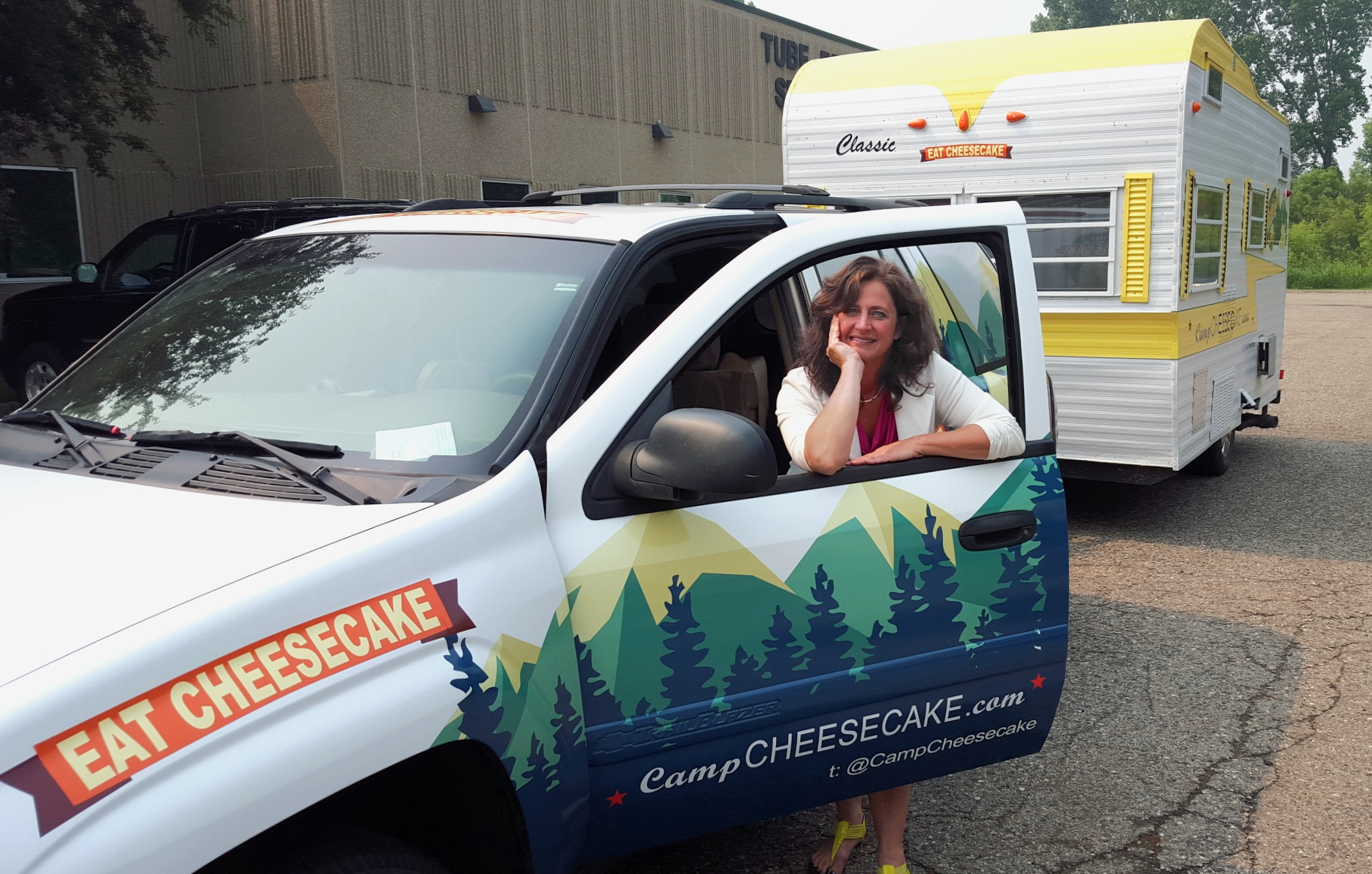 tami with the new camper