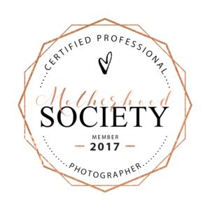 Motherhood Society Certified Professional Photographer