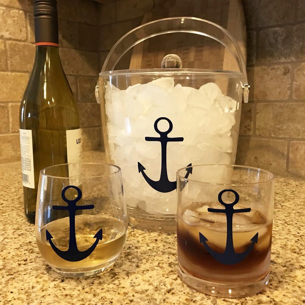 Ice Bucket featuring anchor design