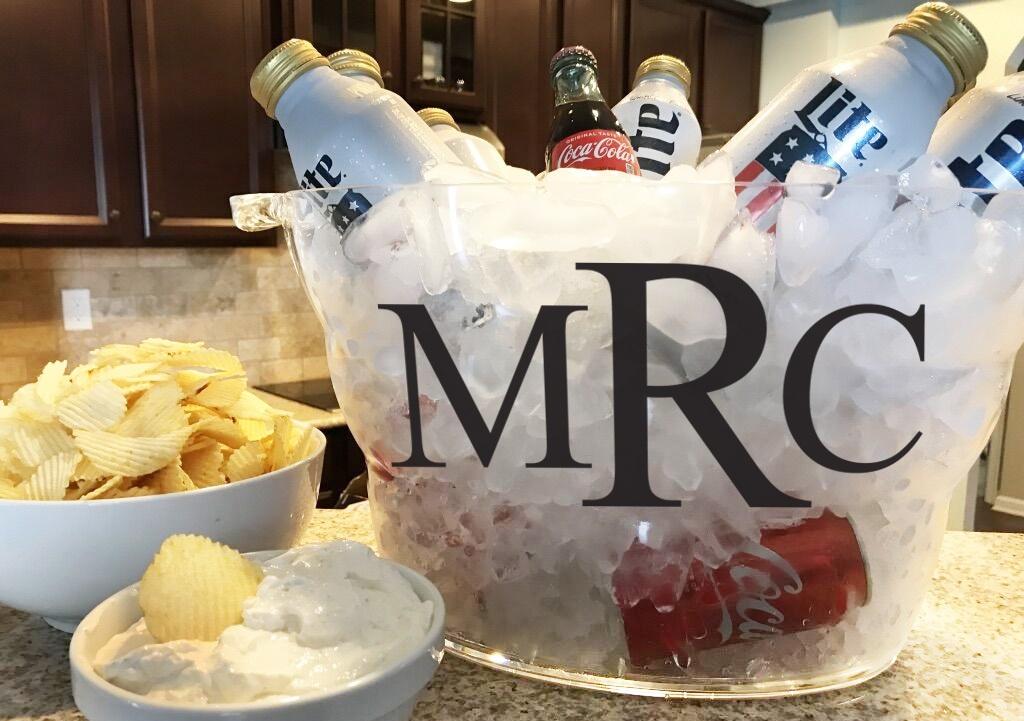 Monogrammed 14-Quart Oval Beverage Bucket