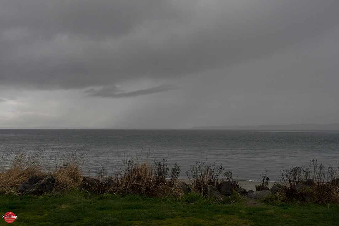 Rain Squall Over Admiralty Inlet