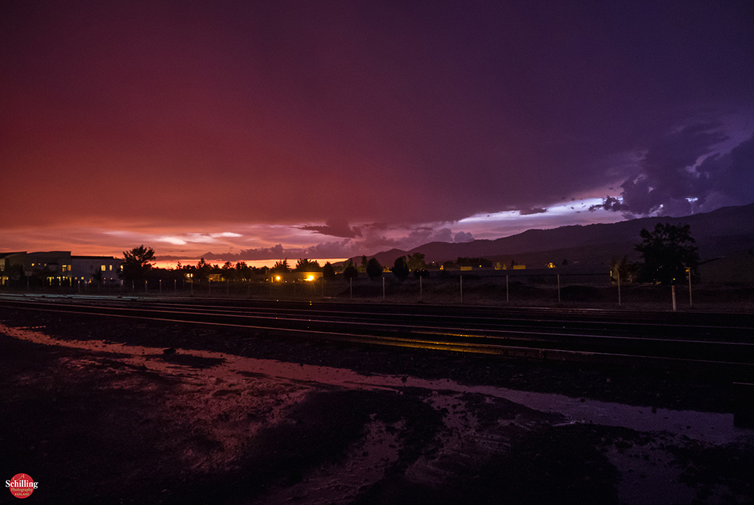 Stormy Railroad District Sunset