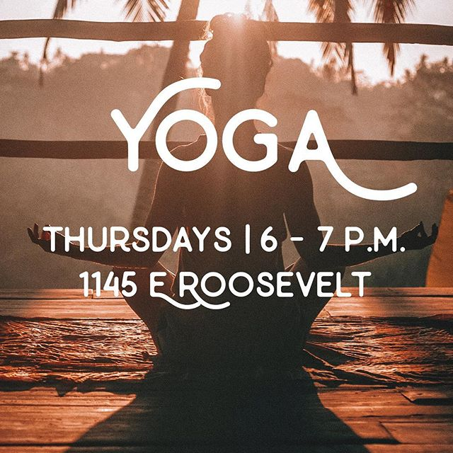 Yoga tonight! Come hang out with @erinjlunn and get your stretch on!