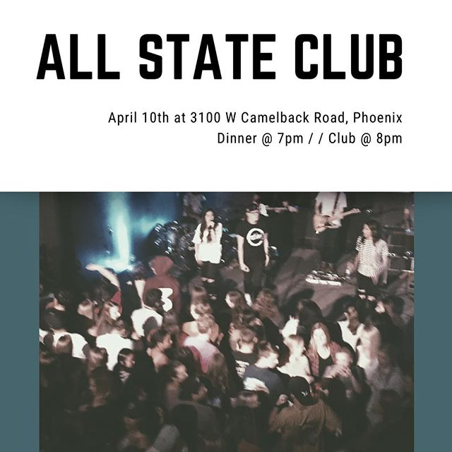 No club tonight! We'll see you tomorrow at All State!!