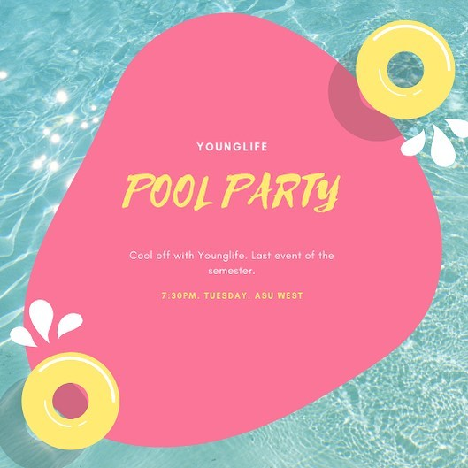 End of the year pool party tomorrow!!