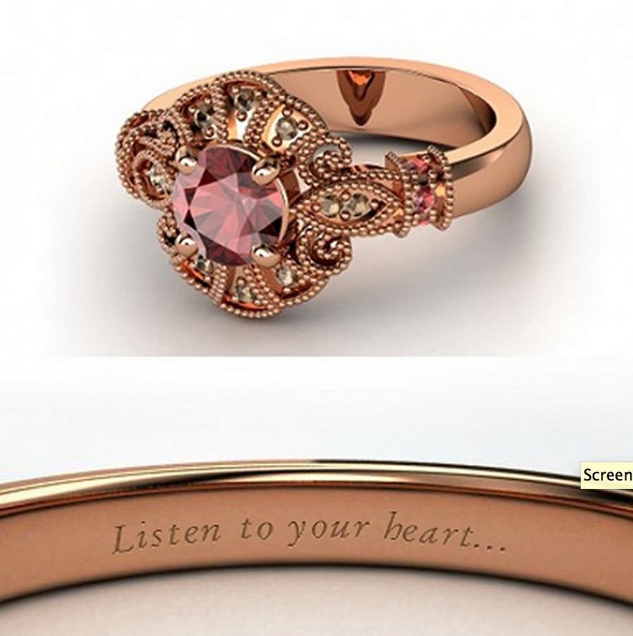 Pocahontas wedding ring