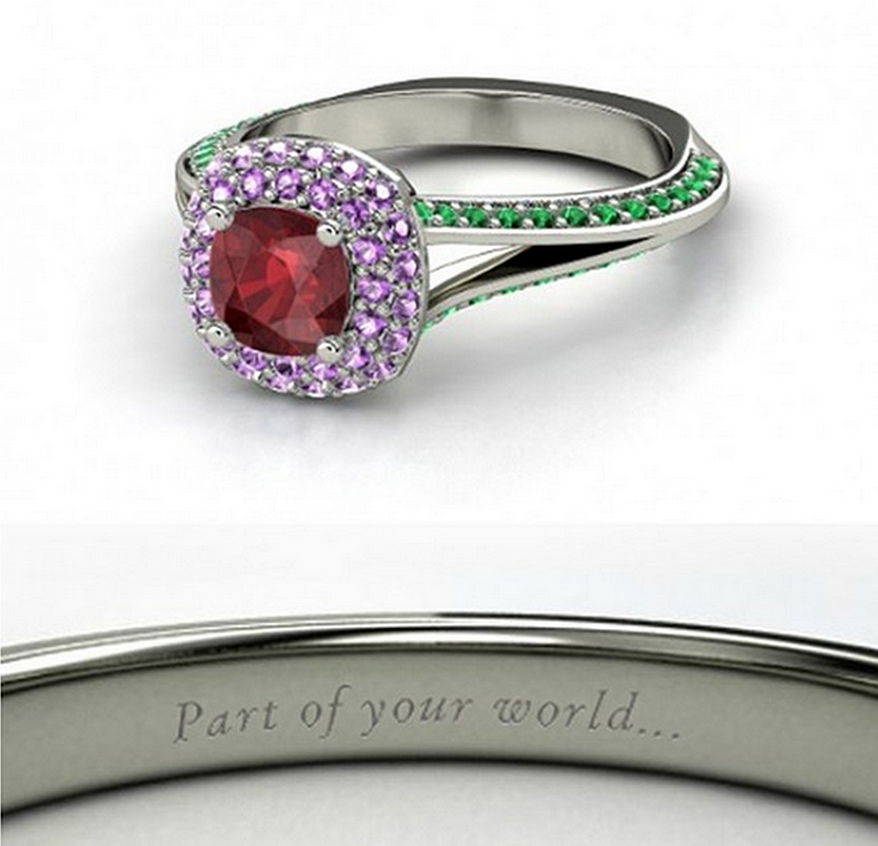 The little mermaid wedding ring