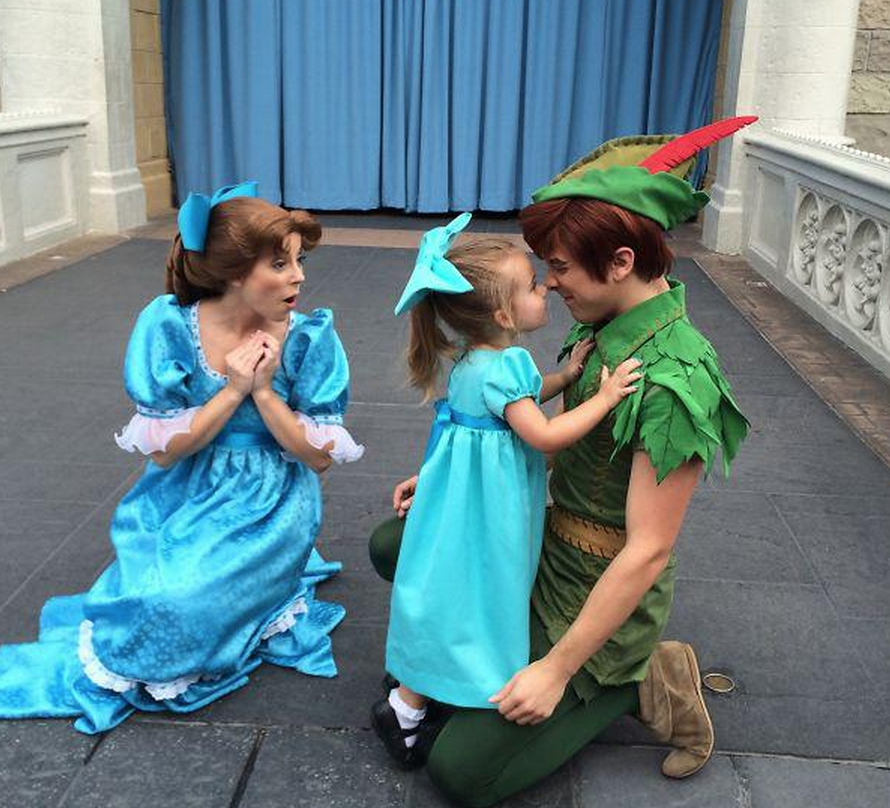 Little Wendy and Peter Pan