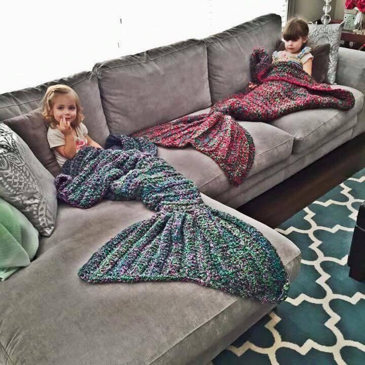 mermaid tail blanket