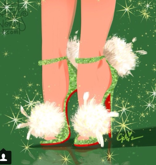 Tinkerbell could only wear a pair of Louboutins, complete with stylish pom poms...