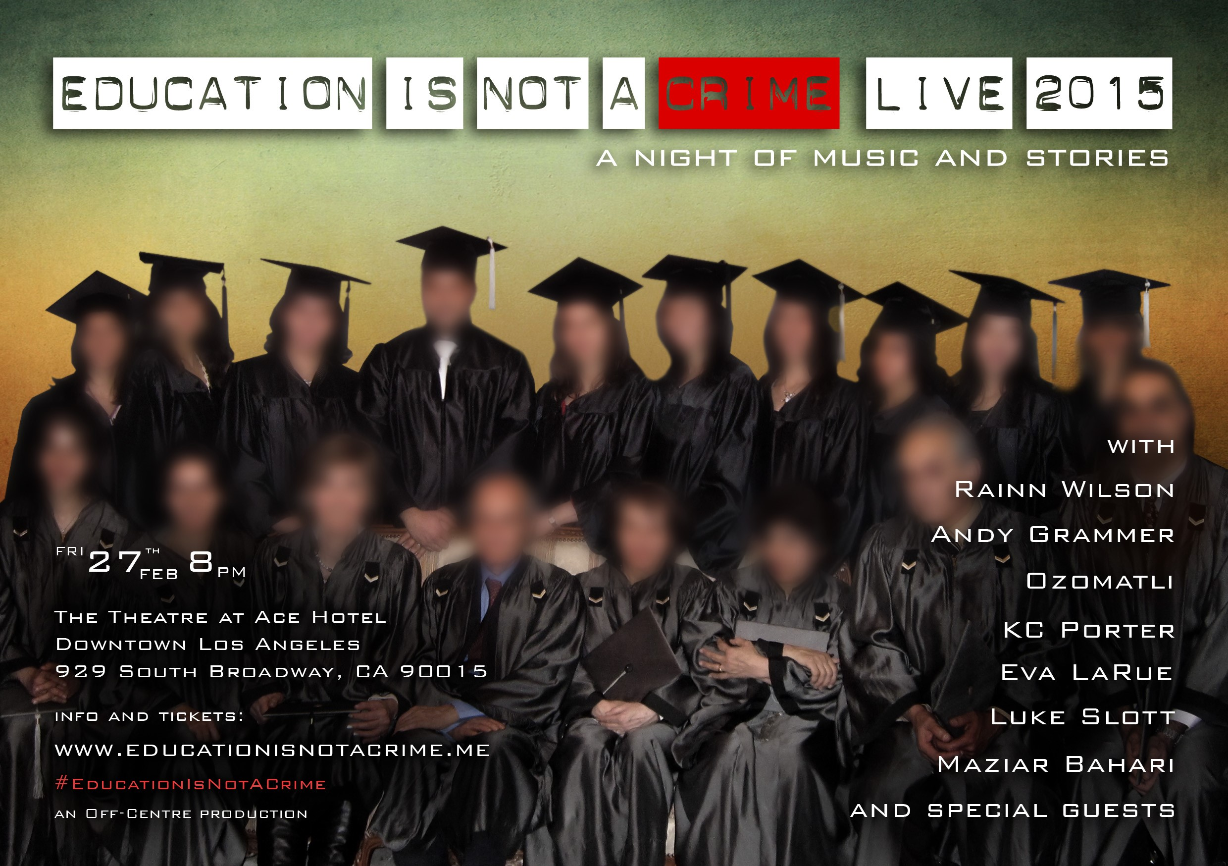 EDUCATION IS NOT A CRIME LIVE 2015