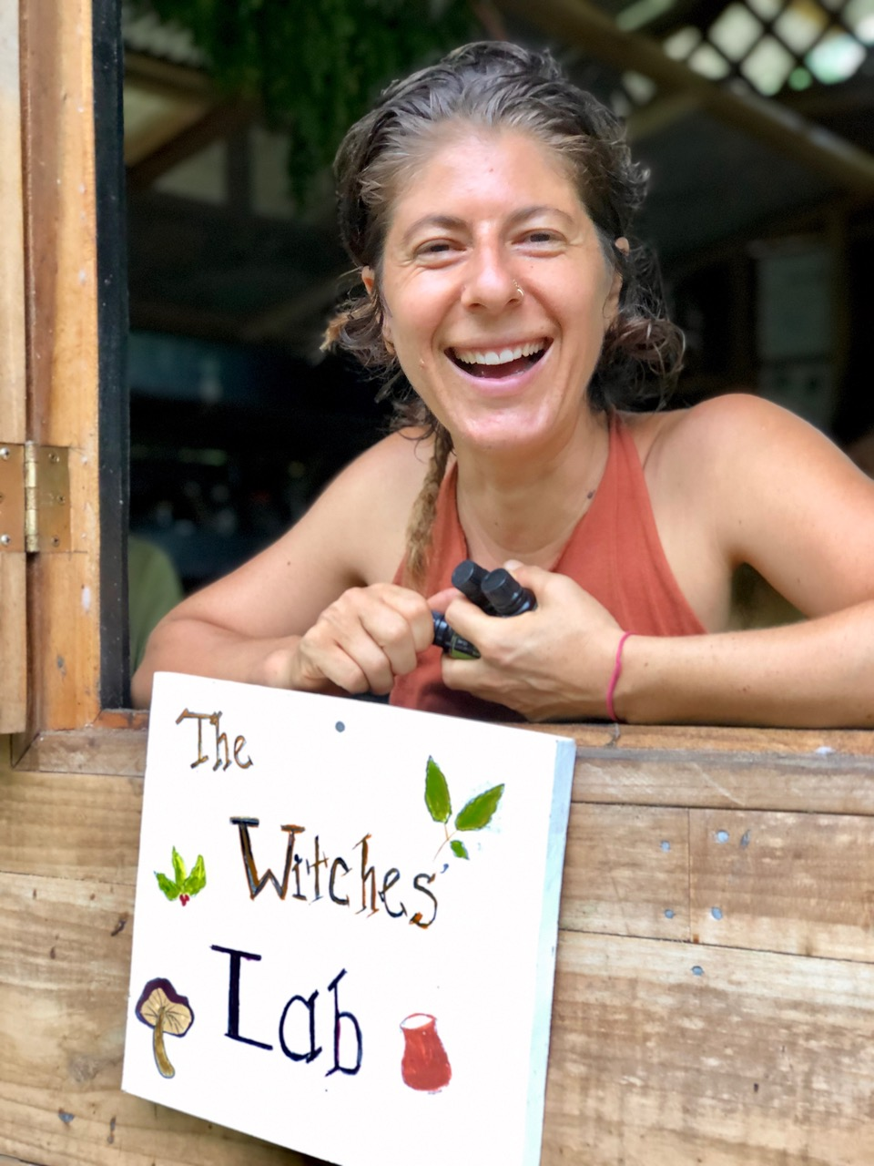 Herbalist Sarit Bianca at Punta Mona in Costa Rica