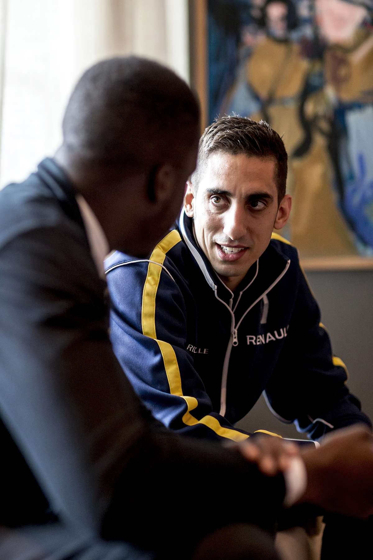 Sebastian Buemi Formula E Renault Interview The Samsonian Eli Ankutse London Battersea.png