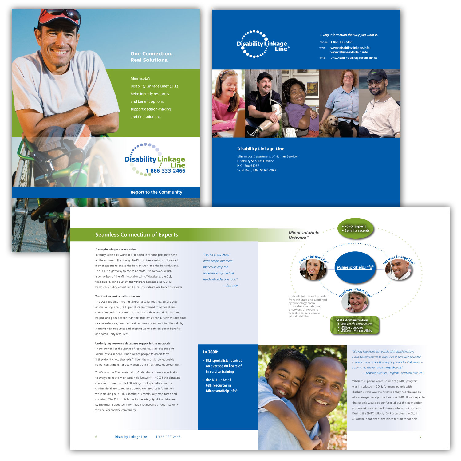 One Connection. Real Solutions.   Seth Levin & Associates Disability Linkage Line     This information booklet describes how Minnesota's Disability Linkage Line is a one-stop connection to find whatever is needed for a person's situation. These services are now also part of the Minnesota Help web site. __________