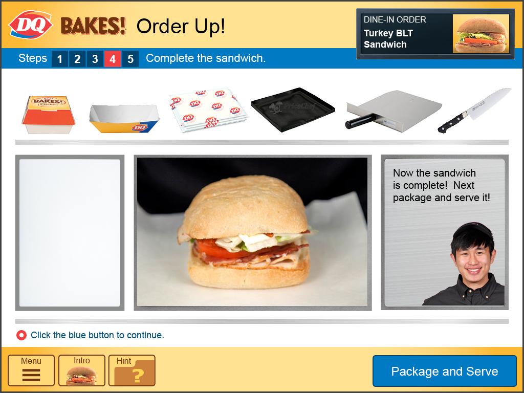 Then the sandwich is assembled…