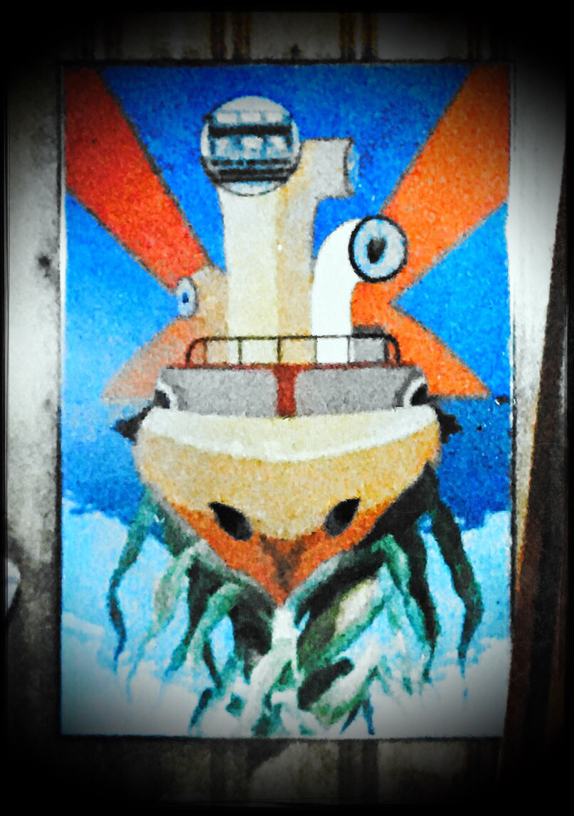 Peter Max-inspired rendition of the Submarine