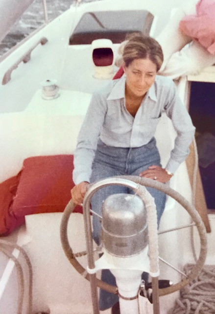 """Capt.Diehl had an apron that said """"I'd Rather Sail than Cook""""-she loves both!"""
