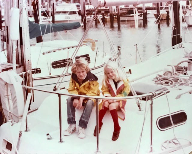 Me and my brother Bill on the deck of Xanadu
