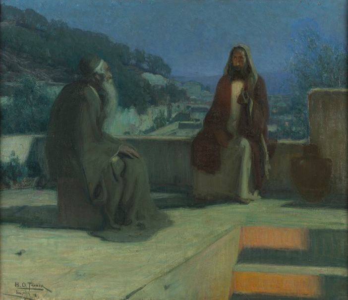 Nicodemus , by Henry Ossawa Tanner (1859-1937), Pennsylvania Academy of the Fine Arts