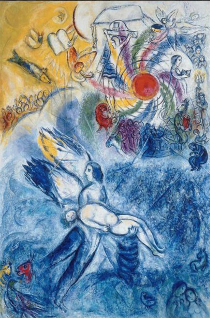 The Creation Of Man; Marc Chagall,  1956-1958; Oil on canvas.