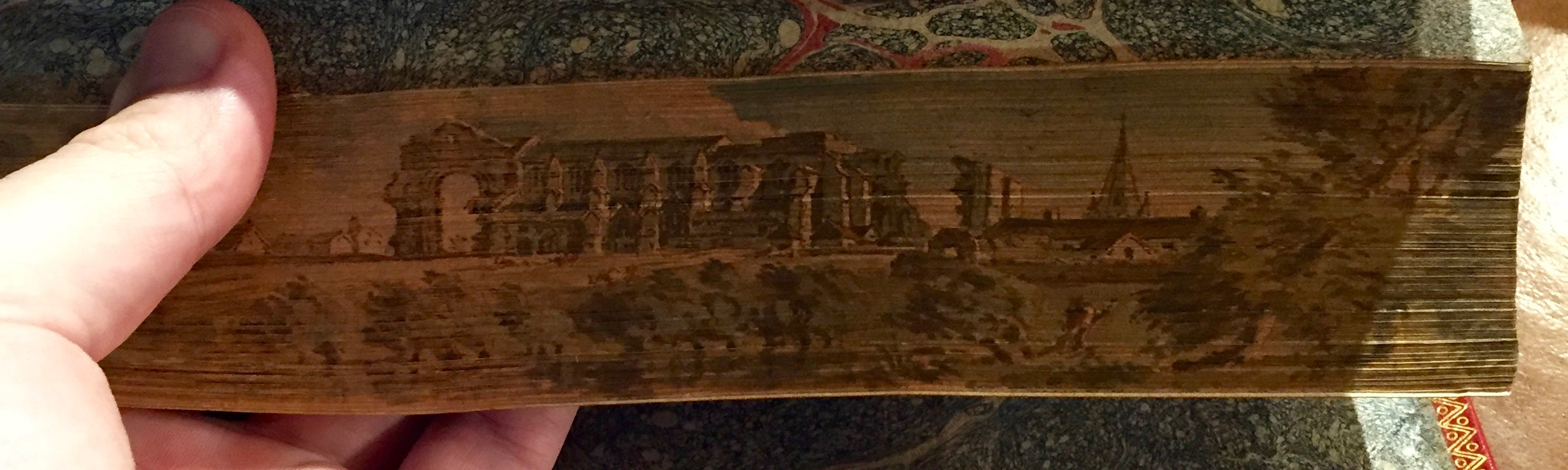 Malmesbury Abbey. Vol. I, fore-edge.