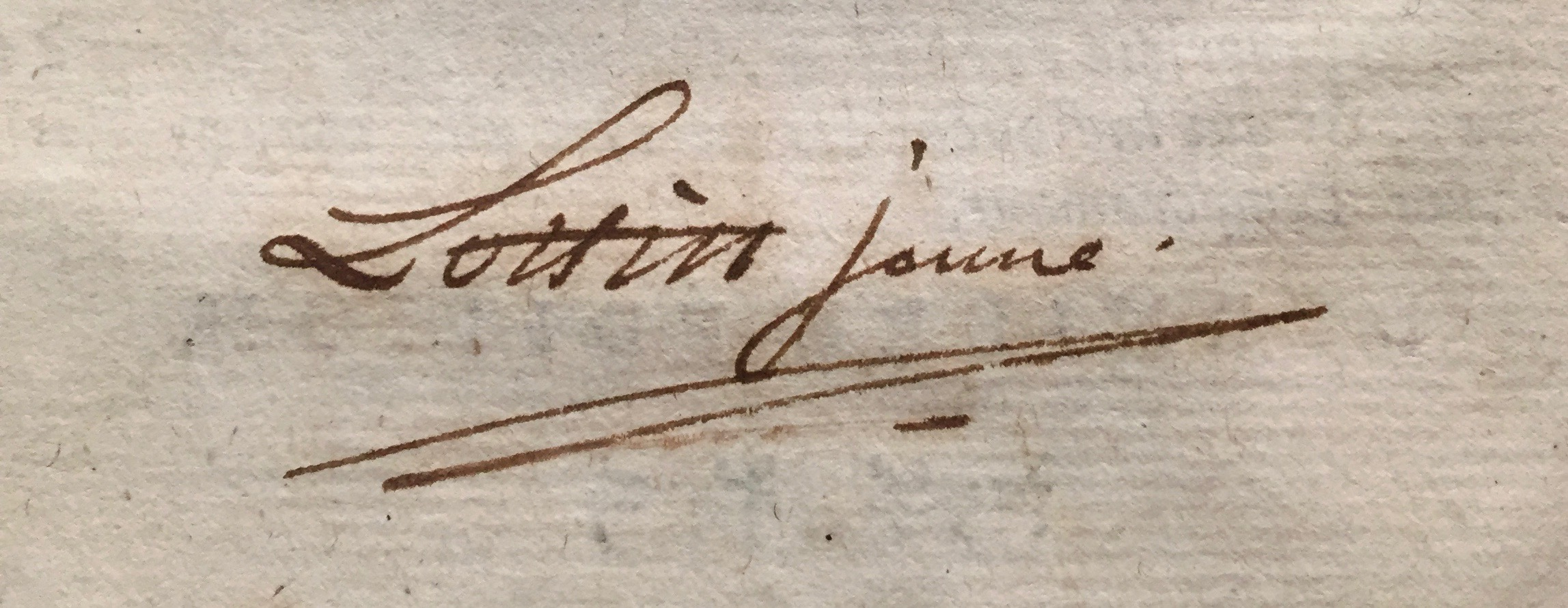 Signature of the publisher, [Antoine-Prosper] Lottin [le] jeune, A2 v .