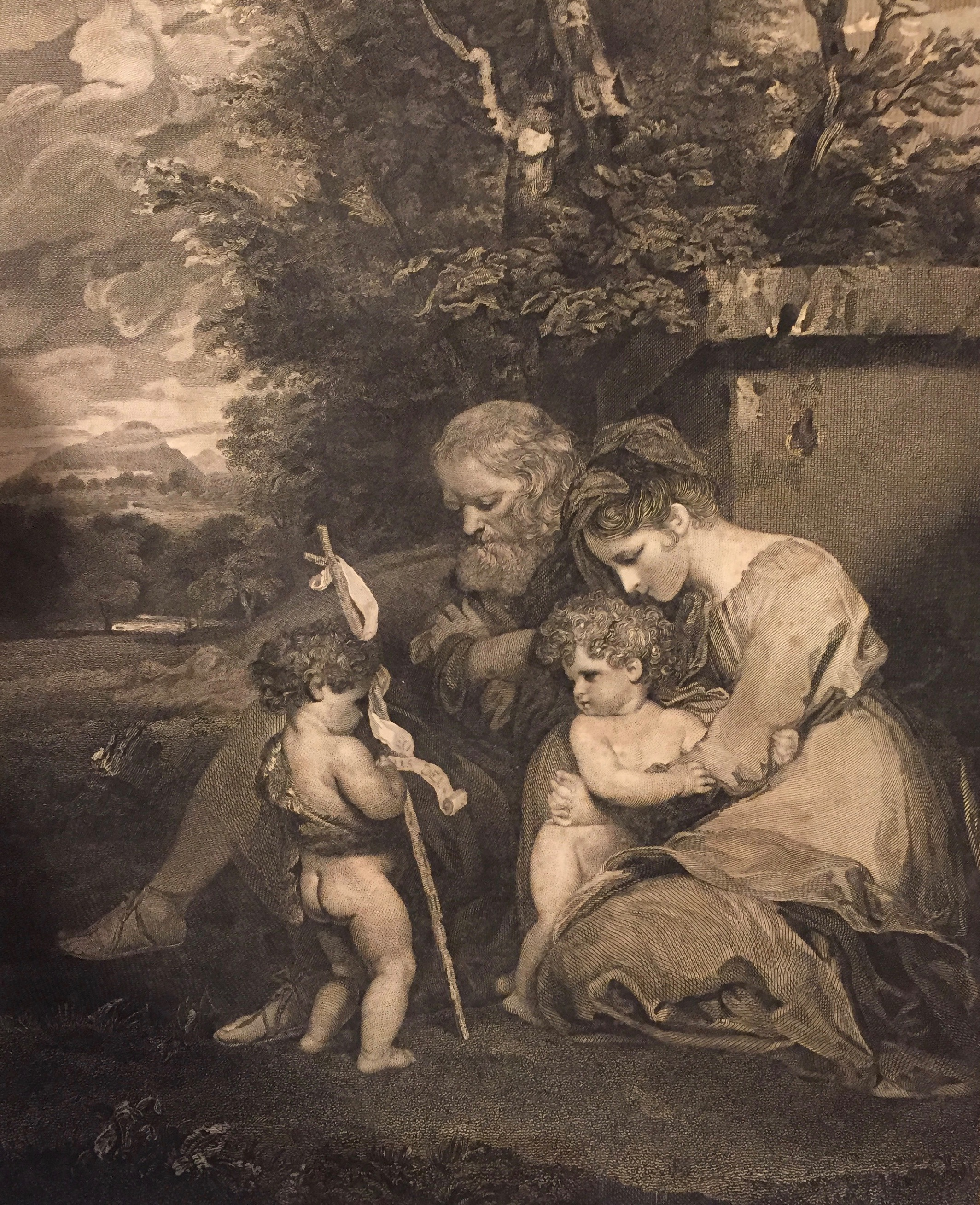 Reynolds's  Holy Family . After his  painting now at the Tate Gallery .