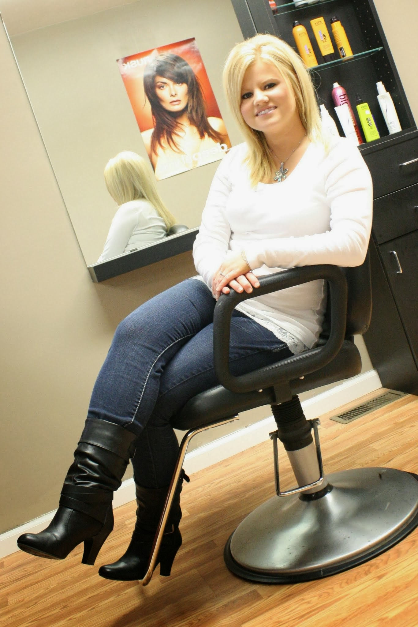 Hilary  Stylist/Nail Tech  Hilary has been with us 7 years. She specializes in giving relaxing, rejuvenating manicures & pedicures. Cutting, Coloring, & Texture techniques are no challenge for her. She is also talented at formal styling- proms, bridal, or just a night out- She will make sure you turn heads! Available by appointment Monday 9am-8pm; Tuesday 9am-8pm; Friday 9am-6pm & Saturday 8am-1pm.
